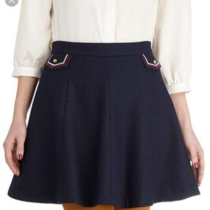 dear creatures Addie Navy Skirt Retro Wool Large